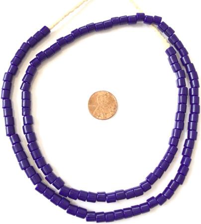 Fine Vintage Czech Bohemian Glass Cobalt blue African Trade beads