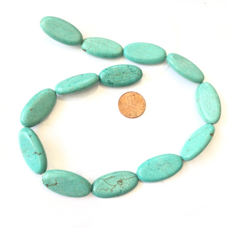 30x15mm Natural Turquoise Oval Gemstone beads Gemstone Beads