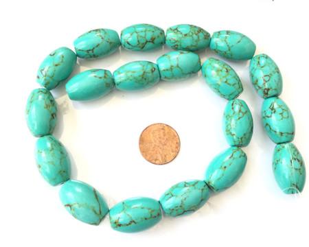 Natural Turquoise Oval Gemstone beads Gemstone Beads