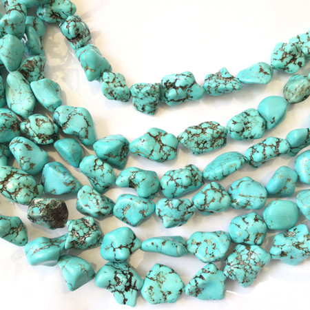 Turquoise Nugget Natural Gemstone beads Gemstone Beads