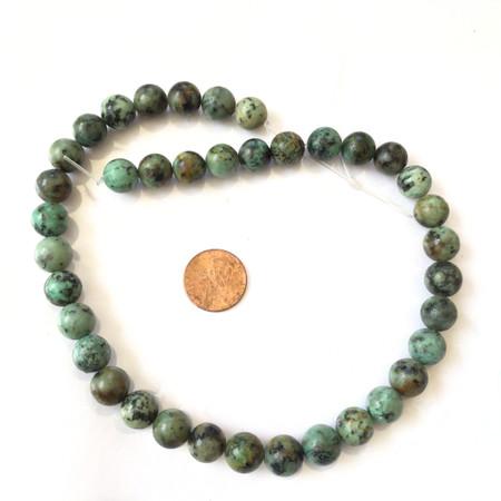 10mm Natural Round African Turquoise Gemstone beads Gemstone Beads