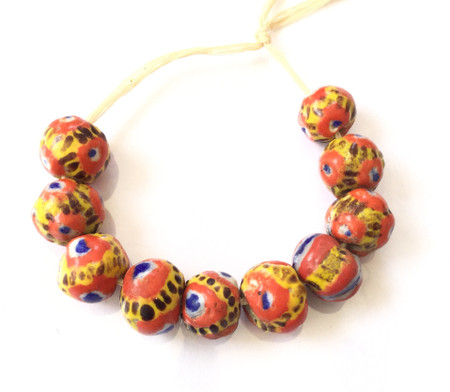 Round African Mauritanian Kiffa trade beads