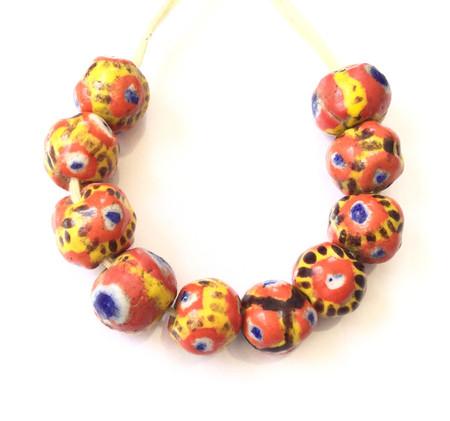 African Mauritanian Round Kiffa trade beads