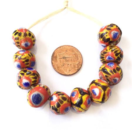 Round African Kiffa Mauritanian trade beads