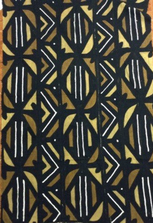 43x69 Large Mali mud cloth fabric M100