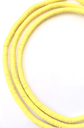 1223 yellow Recycled Phono Record African Vinyl Disk trade beads