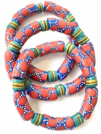 Ghana Fancy multi Colored bracelet-African Trade Beads-Ghana