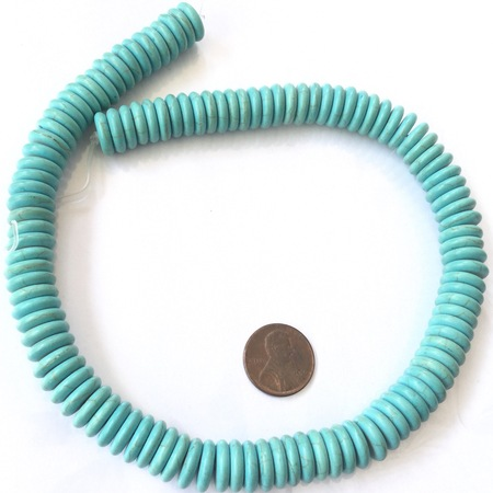 12mm light blue disk Howlite Gemstone beads Stone Gemstone Beads