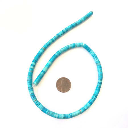 Light blue Heishi disk Howlite Gemstone beads Stone Gemstone Beads