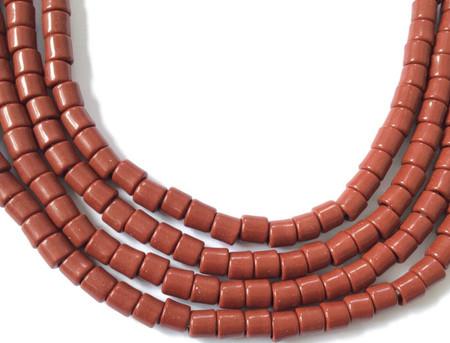 Fine Vintage Czech Bohemian Glass Brown African Trade beads [22015]