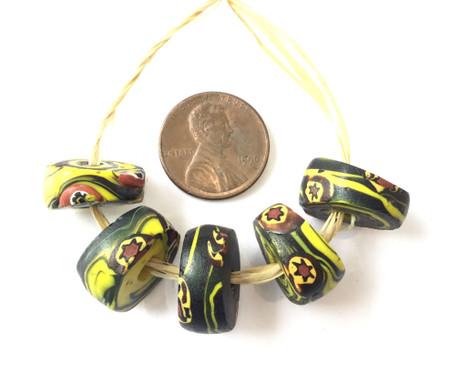 Venetian Antique Millefiori Glass African Trade beads