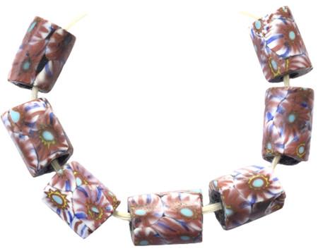 Venetian millefiori antique trade beads [9559]