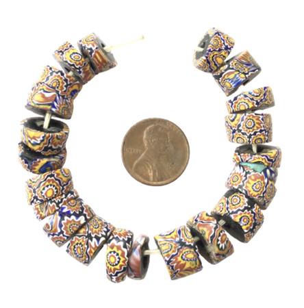 Collectible Venetian millefiori antique trade beads