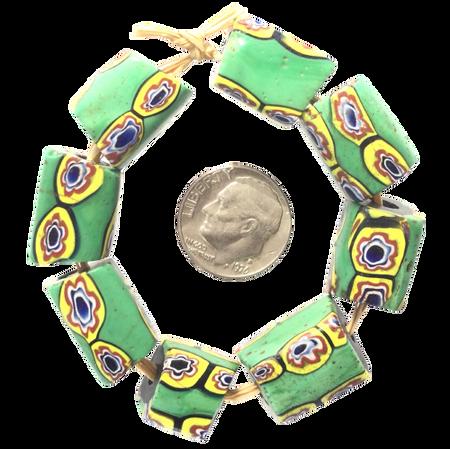 Venetian Antique Millefiori matching African Glass Trade beads-Ghana