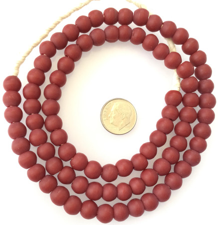 Vintage dark red padre Glass Czech Beads