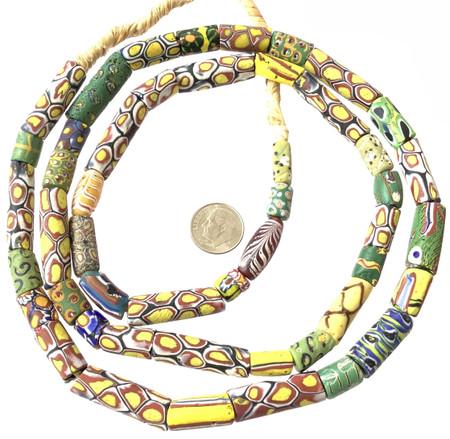 Rare Mixed Antique Venetian millefiori glass African trade beads