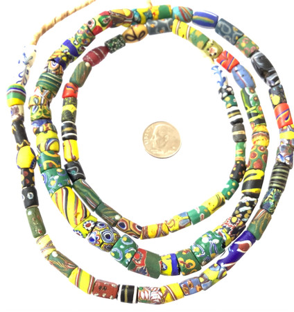 Rare Antique Mixed Venetian millefiori glass African trade beads
