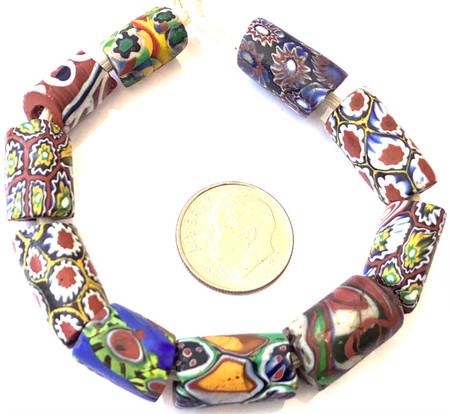 Antique Mixed Venetian Millefiori trade beads