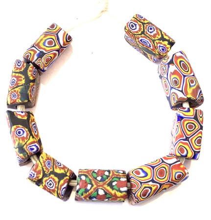 Antique Mixed Millefiori Venetian trade beads [95614]