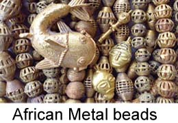 African metal beads