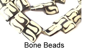 Bone and shell beads