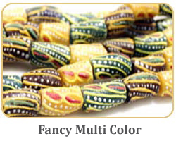 Fancy multi color Krobo beads