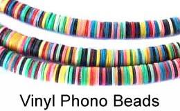 African Phono Vinyl Beads