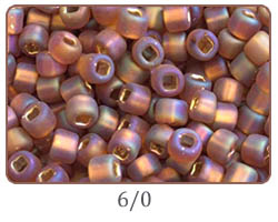 Japanese seed beads 6/0