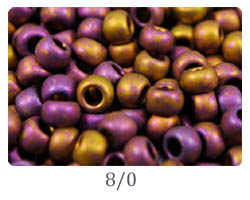 Japanese seed beads 8/0
