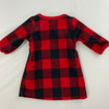 Plaid Fleece Doll Gown One Size