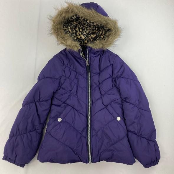 Chevron Quilt Puffer Jacket S 7-8 yr