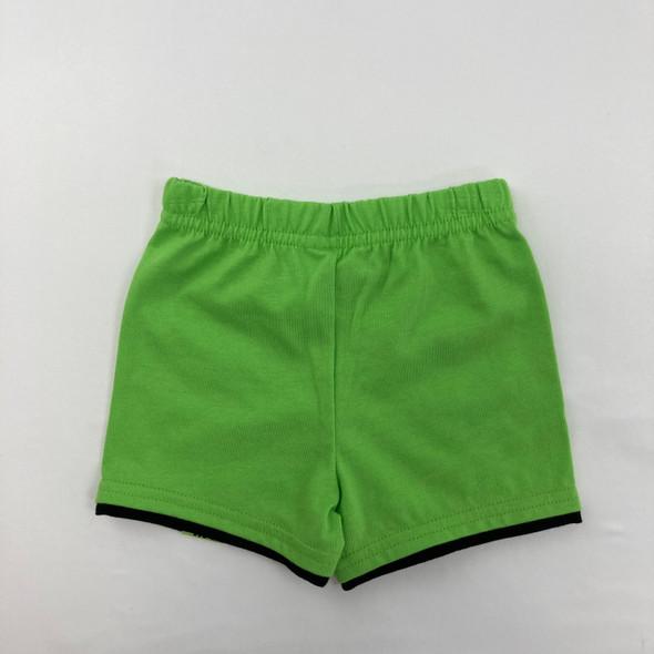 Green Shorts 6-9 mth