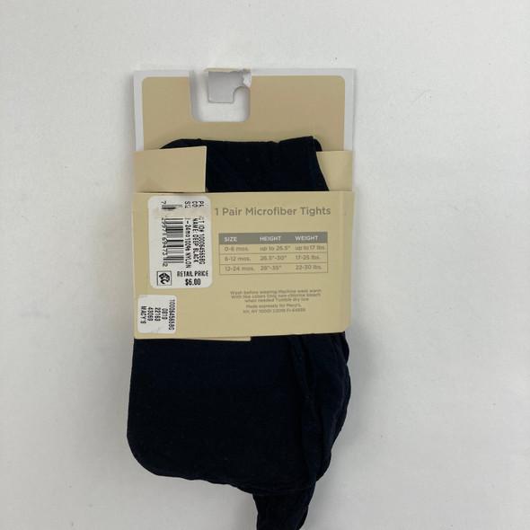 1 Black Pair Microfiber Tights 12-24 mth