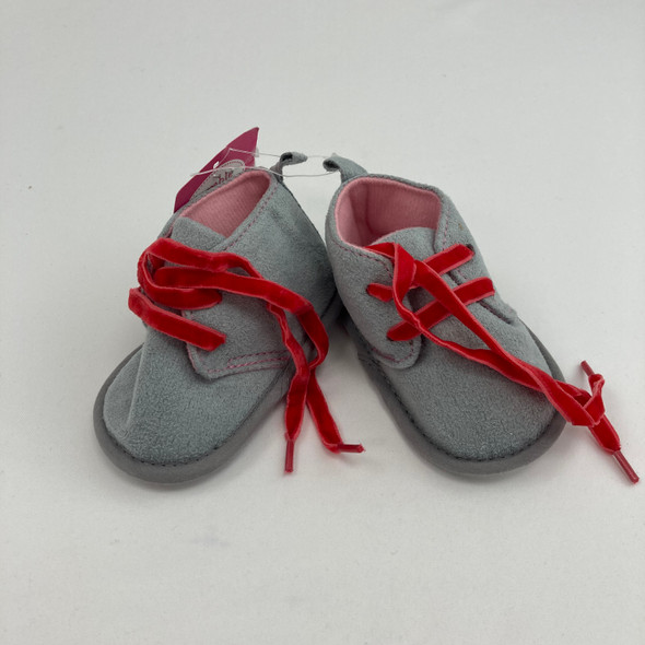 Gray Baby Booties 6-12 mth
