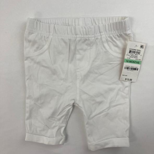 Bright White Short Leggings 18 mth