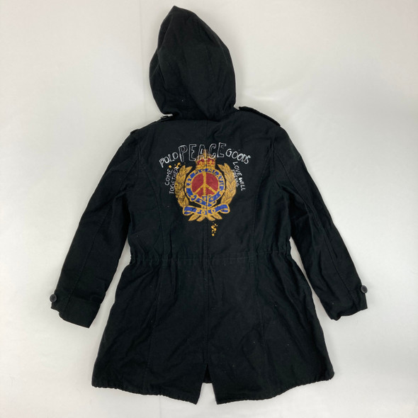 Black Parka With Graphic 7 yr