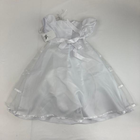 White Ribbon Dress 6-9 mth
