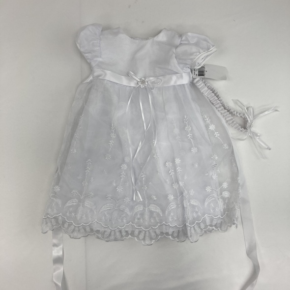 2-Pc Christening Dress 0-3 mth