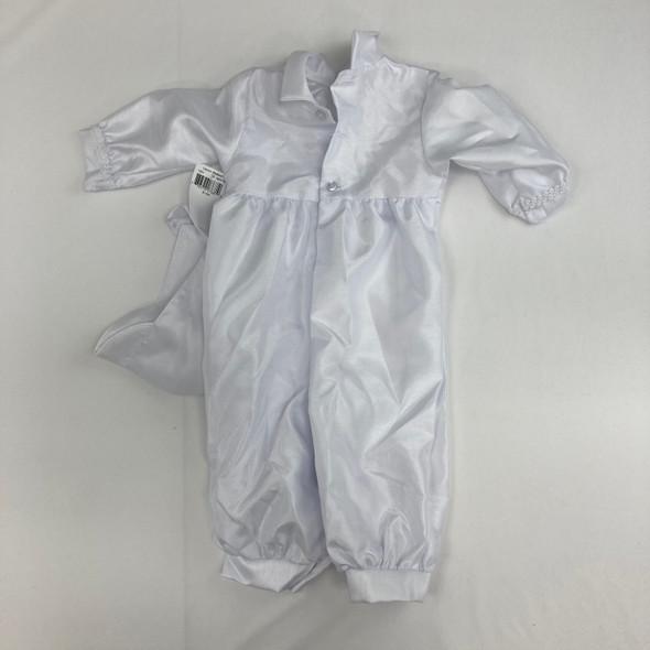 Christening Baby White Romper 9-12 mth