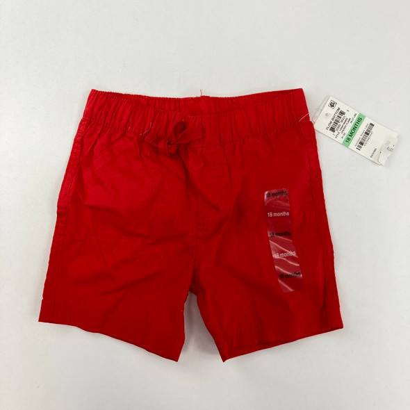 Cherry Red Shorts 18 mth