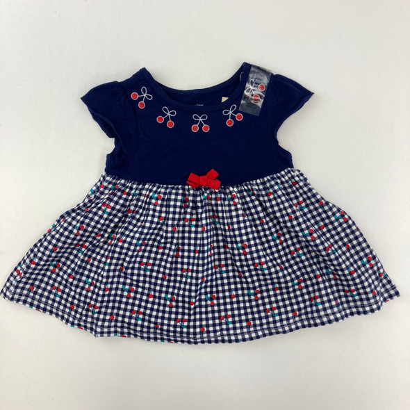 Gingham Cherry Tunic 6-9 mth