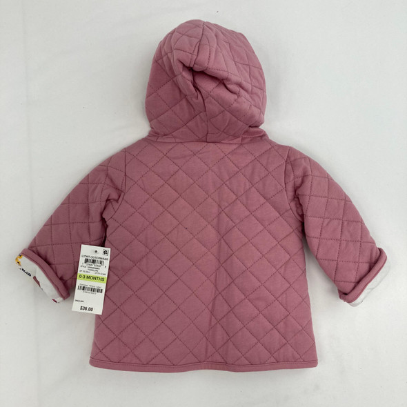 Floral/Quilted Reversible Jacket 0-3 mth