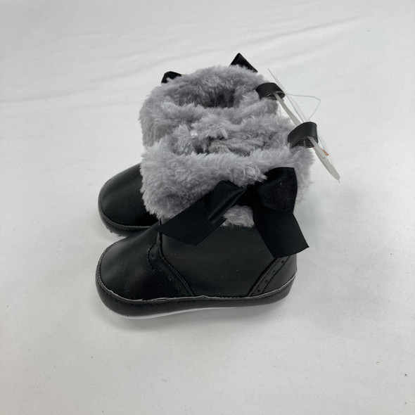 Fancy Bow Booties 0-6 mth