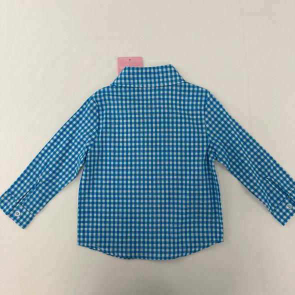 Checkered Bowtie Button-Up 18 mth