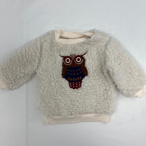Fuzzy Owl Top 3-6 mth