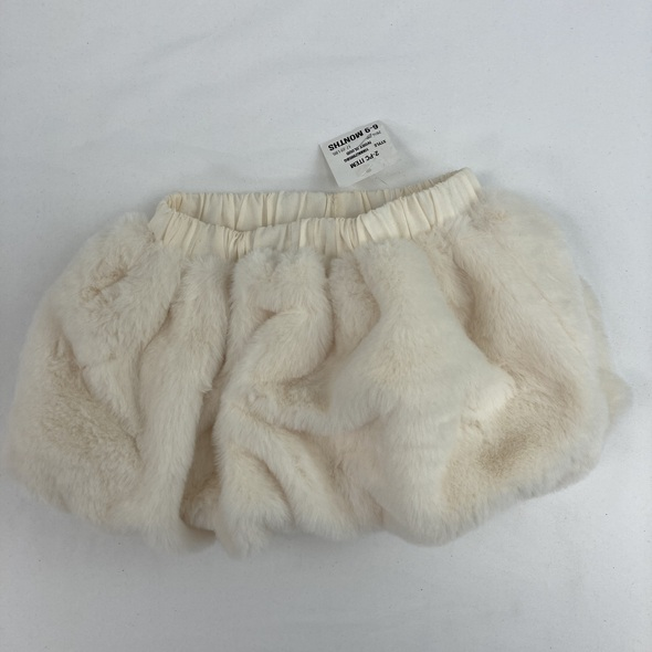 Ivory Cloud Fur Skirt 6-9 mth