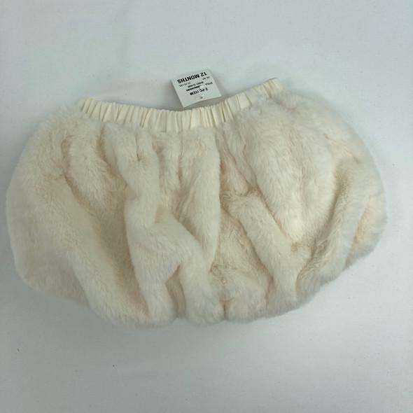 Ivory Cloud Fur Skirt 12 mth