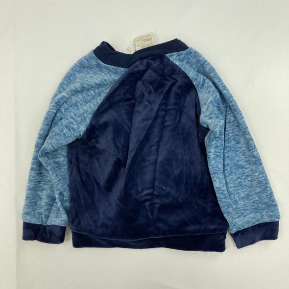 Soft Blue Zip-Up Baby 24 mth