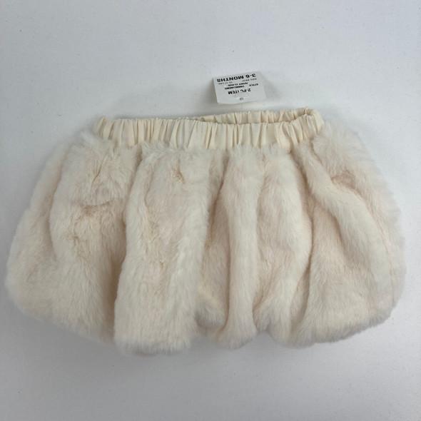 Ivory Cloud Fur Skirt 3-6 mth