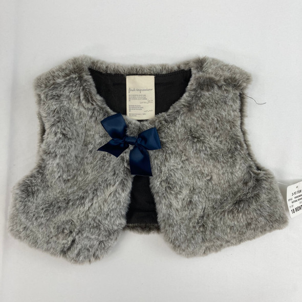 Natural Brown Furry Vest 18 mth
